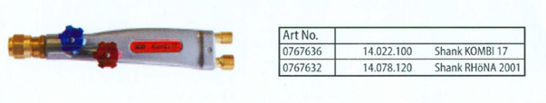 Aluminium Shank For Standard Flow Heating Torches Heating